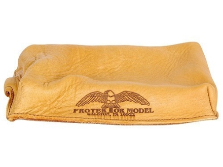 Protektor Brick Rifle Front Shooting Rest Bag Leather Tan Unfilled