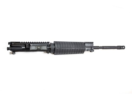 "CMMG AR-15 M4 LE A3 Flat-Top Upper Assembly 300 AAC Blackout 1 in 7"" Twist 16"" Barrel Carbine Gas System WASP Melonite Finish CM with M4 Handguard, Single Rail Gas Block, Flash Hider"
