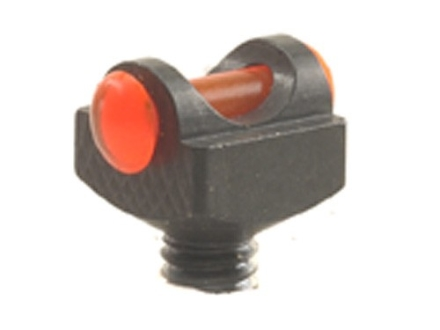 "Marble's Expert Shotgun Front Bead Sight .094"" Diameter 3-56 and M2.5x0.45 Thread 3/32"" Shank Fiber Optic Orange"