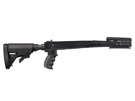 Advanced Technology Strikeforce 6-Position Collapsible Side Folding Rifle Stock with Scorpion Recoil System SKS Polymer