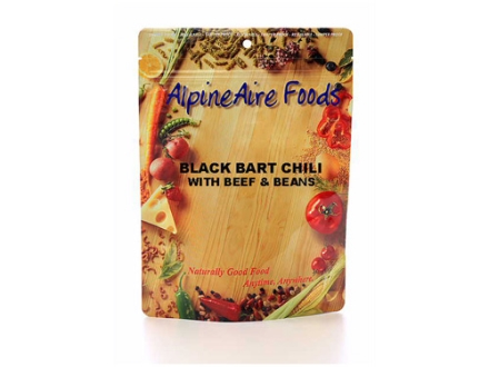 AlpineAire Mountain Black Bart Chili with Beef and Beans Freeze Dried Meal 6 oz