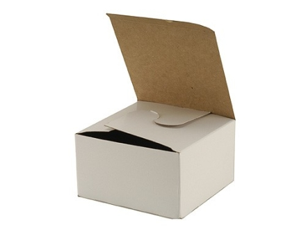 "BB-69 Storage Box 4"" x 4"" x 2-1/4"" Cardboard White Box of 100"