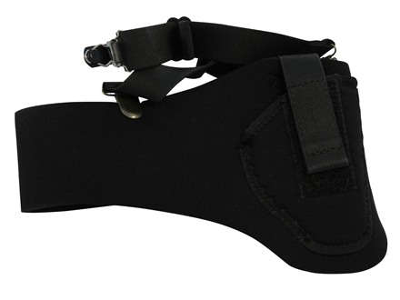 DeSantis Thigh High Leg Holster Right Hand Neoprene Black