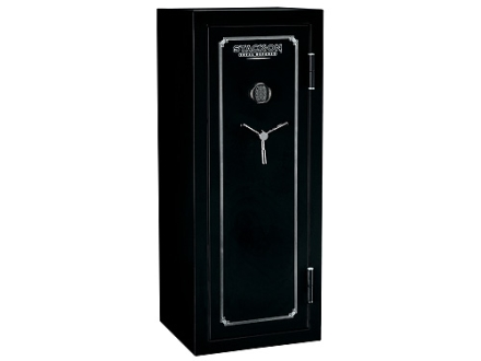 Stack-On Total Defense 14-Gun Fire-Resistant and Waterproof Safe with Electronic Lock & Flex Interior  High Gloss Black