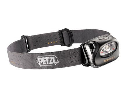 Petzl Tikka Plus 2 Headlamp 4 White LEDs with Batteries (3 AAA Alkaline) Polymer Gray