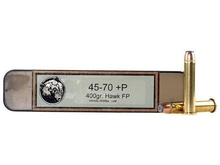 Grizzly Ammunition 45-70 Government +P 405 Grain Hawk Bonded Core Jacketed Flat Point Box of 20
