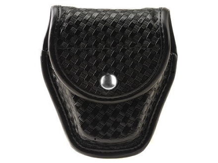 Bianchi 7917 AccuMold Elite Double Cuff Case Chrome Snap Basketweave Nylon Black