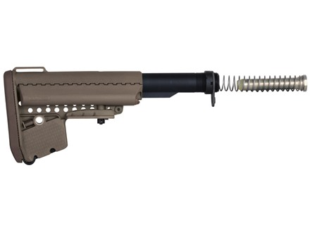 Vltor EMOD A5 Buttstock Assembly 7-Position Mil-Spec Diameter Collapsible AR-15 Carbine Synthetic