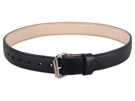 "Lenwood Leather 1400 Belt 1-1/2"" Steel Buckle Leather Black 38"""