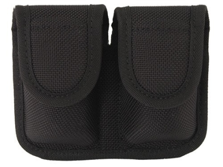 Bianchi 7301 Speedloader Pouch Medium Frame Revolver Hidden Snap Closure Nylon Black