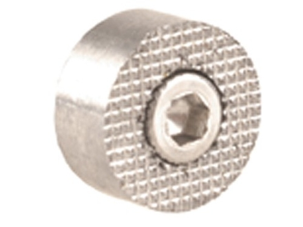 Ed Brown Oversize Checkered Magazine Release Button 1911 Stainless Steel