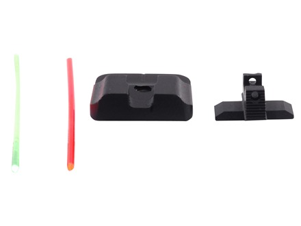 Warren Tactical Sight Set Springfield XD, XDM Plain Tactical Rear, Fiber Optic Front Steel Matte