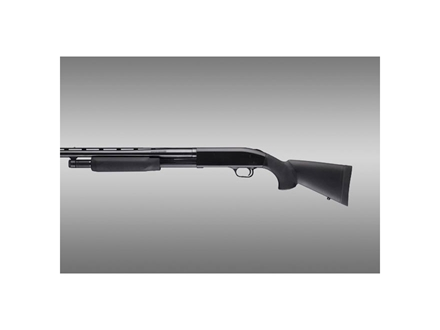 "Hogue Rubber OverMolded Stock and Forend Mossberg 500 12"" Length of Pull Synthetic Black"