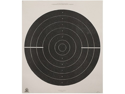 NRA Official International Pistol Target B-37 25 Meter Rapid Fire Paper Package of 100