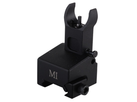 Midwest Industries Flip-Up Low-Profile Locking Front Sight Gas Block Height AR-15, LR-308 Aluminum Black