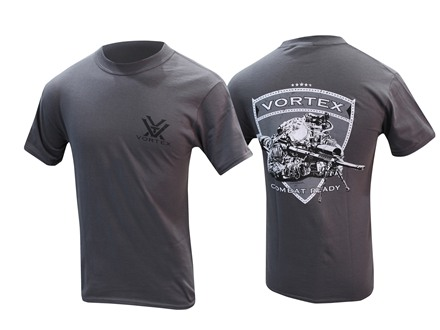 Vortex Combat Ready T-Shirt Short Sleeve Cotton Gray X-Large