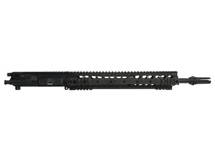 "Advanced Armament Co (AAC) AR-15 A3 Flat-Top Upper Assembly 300 AAC Blackout 1 in 7"" Twist 16"" Barrel with KAC URX 3.1 Free Float Quad Rail Handguard, Blackout Flash Hider"