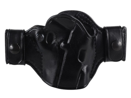 El Paso Saddlery Snap Off Compact Thumb Break Outside the Waistband Holster Right Hand 1911 Leather Black
