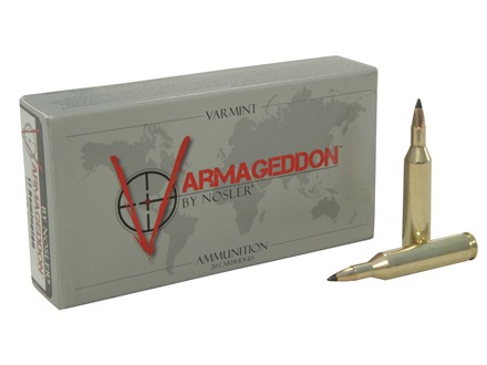 Nosler Varmageddon Ammunition 17 Remington 20 Grain Tipped Flat Base Box of 20