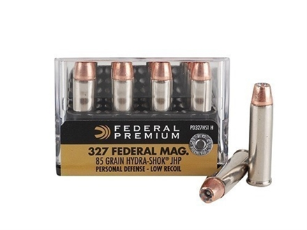 Federal Premium Personal Defense Reduced Recoil Ammunition 327 Federal Magnum 85 Grain Hydra-Shok Jacketed Hollow Point Box of 20