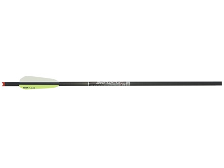"Easton FlatLine 22"" Carbon Crossbow Bolt 3"" BTV Vanes Half Moon Nocks Black Pack of 6"