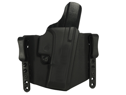 Comp-Tac FlatLine Convertible Belt and Inside the Waistband Holster Glock 19, 23, 32 Kydex Black