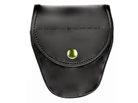 Bianchi 7900 AccuMold Elite Covered Cuff Case Brass Snap Trilaminate High-Gloss Black