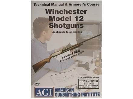 "American Gunsmithing Institute (AGI) Technical Manual & Armorer's Course Video ""Winchester Model 12 Shotguns"" DVD"