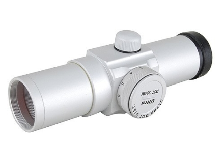 UltraDot Red Dot Sight 30mm Tube 1x 4 MOA Dot with Weaver-Style Rings Silver