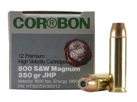 Cor-Bon Hunter Ammunition 500 S&W Magnum 350 Grain Jacketed Hollow Point Box of 12