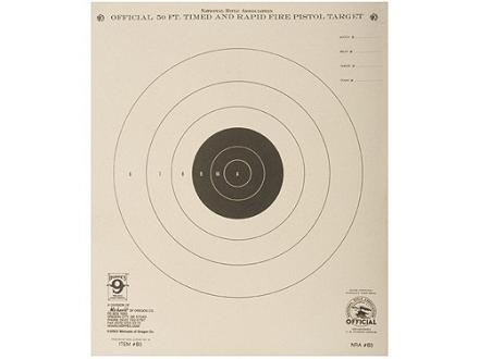 Hoppe's Timed and Rapid Fire Target 50' Pistol Package of 20