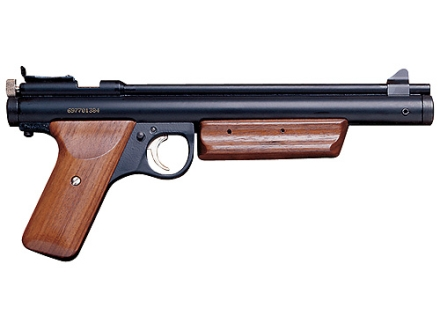 Benjamin Pump Action Air Pistol 22 Caliber Pellet Black with Wood Grips
