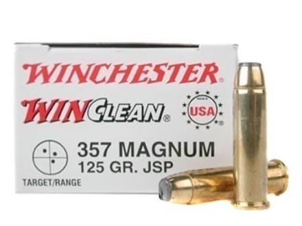 Winchester USA WinClean Ammunition 357 Magnum 125 Grain Jacketed Flat Nose