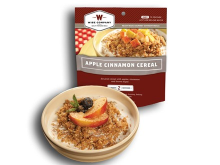 Wise Company Outdoor Apple Cinammon Cereal Freeze Dried Food 5 oz