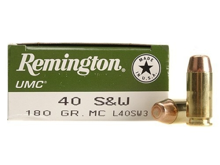 Remington UMC Ammunition 40 S&W 180 Grain Full Metal Jacket