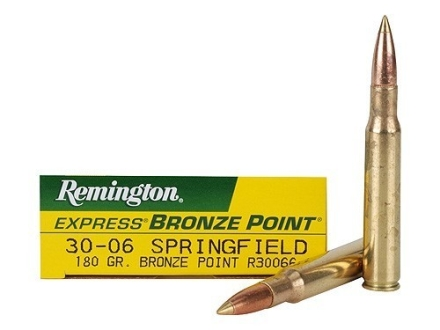 Remington Express Ammunition 30-06 Springfield 180 Grain Bronze Point Box of 20