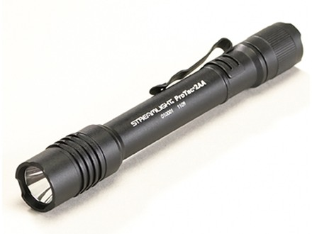 Streamlight ProTac 2AA Flashlight LED with 2 AA Batteries Aluminum Black