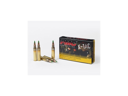 PMC X-Tac Ammunition 5.56x45mm NATO 62 Grain M855 SS109 Penetrator Full Metal Jacket Box of 20