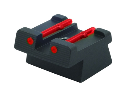 HIVIZ Rear Sight HK USP Full-Size, USP Compact Steel Fiber Optic Red