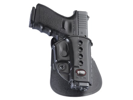 Fobus Evolution Roto Paddle Holster Right Hand Glock 17, 19, 22, 23, 26, 27, 33, 34, 35 Polymer Black
