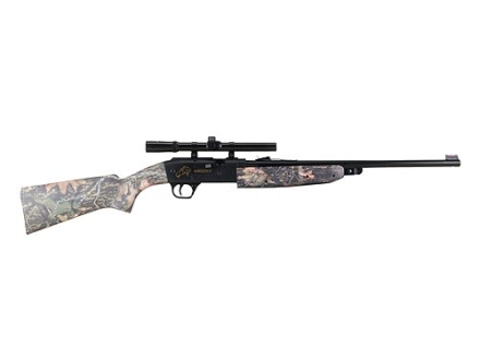 Daisy 4841 Grizzly Air Rifle 177 Caliber Mossy Oak Camo Synthetic Stock Blue Barrel with Daisy Airgun Scope 4x 15mm Gloss