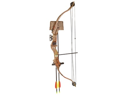 "Arrow Precision Buck Youth Bow Package 20 lb. 22"" Draw Length Oak Grove Fall Camo"