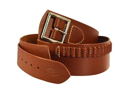 Hunter 162 Western Drop Belt with Conchos 22 Caliber Rimfire Leather Antique Brown