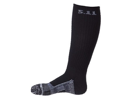 "5.11 Tactical Socks Level One Over the Calf 9"" Synthetic Blend Black Large"