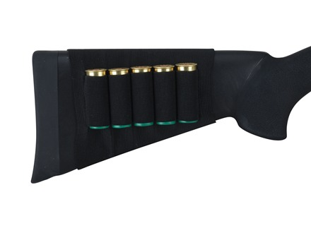 Allen Buttstock Shotshell Ammunition Carrier 5-Round Elastic Black