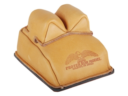 Protektor Bunny Ear Rear Shooting Rest Bag with Heavy Bottom Leather Tan Filled