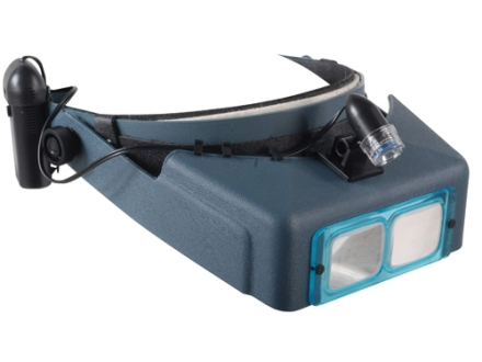 Donegan Optical OptiVISOR Magnifying Headband Visor Complete Set with Hardcase