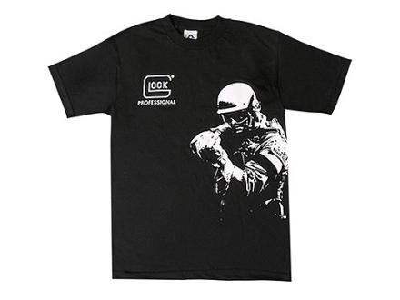 "Glock Professional T-Shirt Short Sleeve Cotton Black Small (36"")"