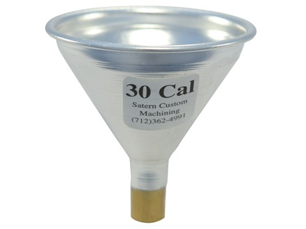 Satern Powder Funnel 30 Caliber Aluminum and Brass