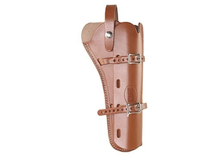 "Hunter 68-100 Scoped Pistol Belt Holster Right Hand Single-Action Revolvers 7.5"" Barrel Leather Brown"